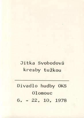 Jitka Svobodová: Kresby tužkou