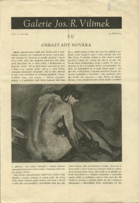 Obrazy Ady Nováka / Bilder von Ada Novák