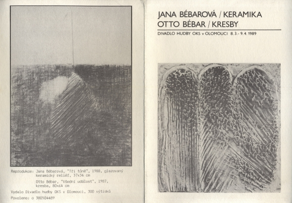 Jana Bébarová: Keramika, Otto Bébar: Kresby