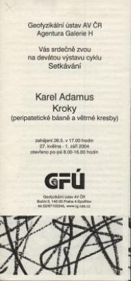 Karel Adamus: Kroky (peripatetické básně a větrné kresby)