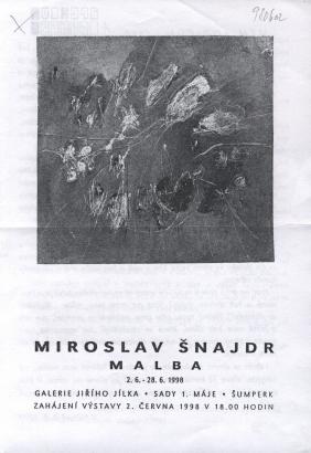 Miroslav Šnajdr: Malba