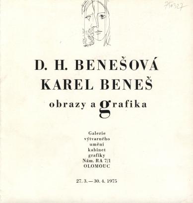 D. H. Benešová, Karel Beneš: Obrazy a grafika