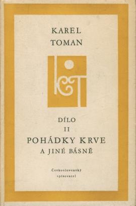 Toman, Karel - Pohádky krve a jiné básně