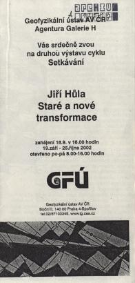 Jiří Hůla: Staré a nové transformace