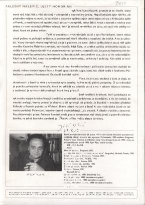 Jiří Olič: Falešný Malevič, ujetý Mondrian