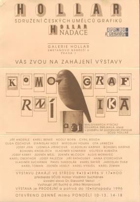 Komorní grafika a 31 malovaných ptáčků Eduarda Šmejkala