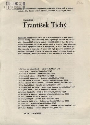 Neznámý František Tichý