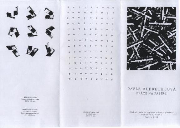 Pavla Aubrechtová: Práce na papíře