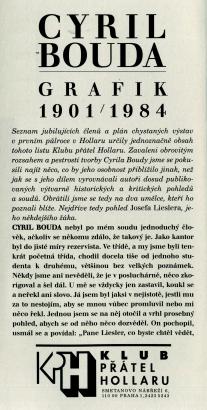 Cyril Bouda grafik 1901 / 1984