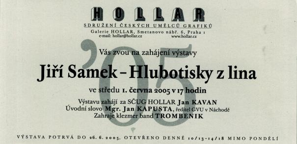 Jiří Samek: Hlubotisky z lina