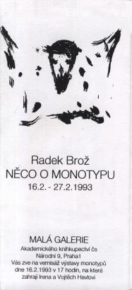 Radek Brož: Něco o monotypu