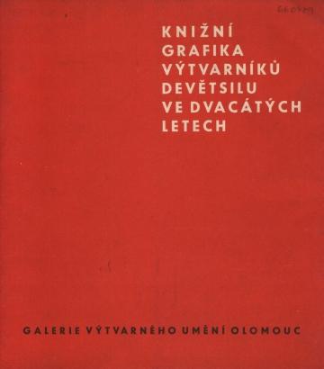Knižní grafika výtvarníků Devětsilu ve dvacátých letech