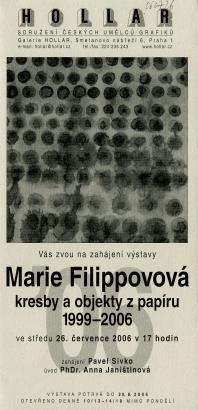 Marie Filippovová: Kresby a objekty z papíru 1999 - 2006