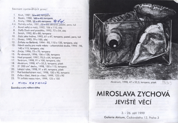 Miroslava Zychová: Jeviště věcí