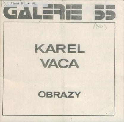 Karel Vaca: Obrazy