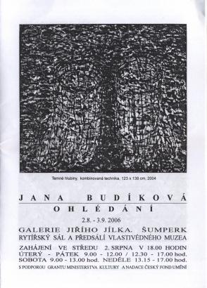 Jana Budíková: Ohlédání