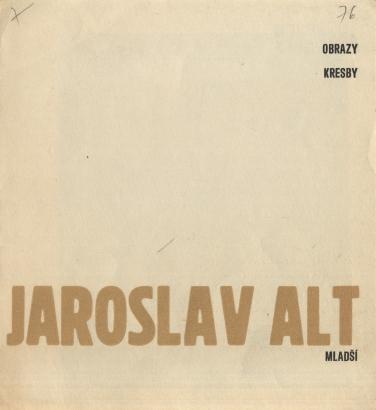 Jaroslav Alt mladší: Obrazy, kresby