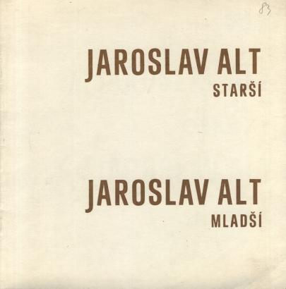 Jaroslav Alt starší: Obrazy, Jaroslav Alt mladší: Grafika