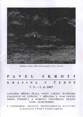 Pavel Skrott: Krajina v černé