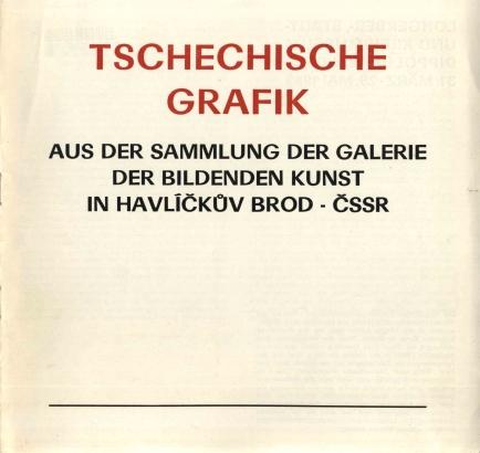 Tschechische Grafik aus der sammlung der Galerie der bildenden Kunst in Havlíčkův Brod - ČSSR