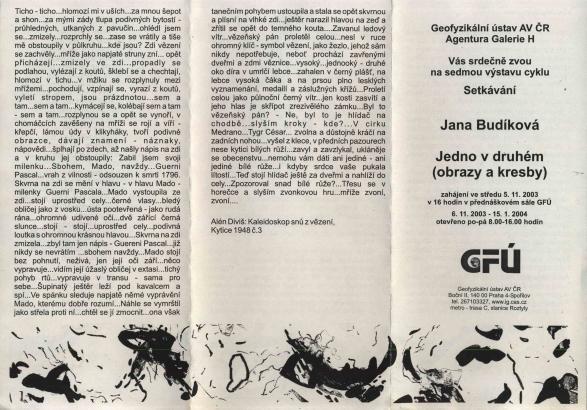 Jana Budíková: Jedno v druhém (obrazy a kresby)