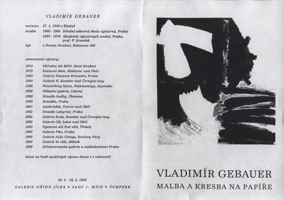 Vladimír Gebauer: Malba a kresba na papíře