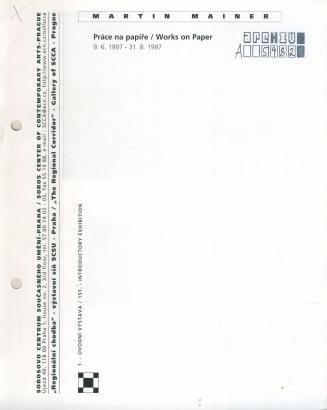 Martin Mainer: Práce na papíře / Works on Paper