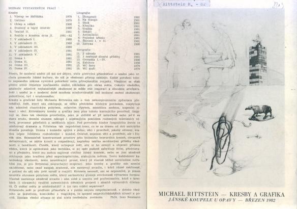 Michael Rittstein: Kresby a grafika