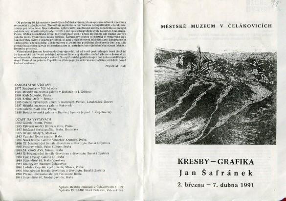 Jan Šafránek: Kresby - grafika