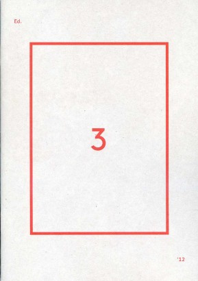Edition 3: Berliner Festspiele 2012