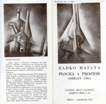 Radko Mašata: Plocha a prostor