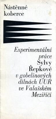 Nástěnné koberce: Experimentální práce Sylvy Řepkové v gobelinových dílnách ÚUŘ ve Valašském Meziříčí