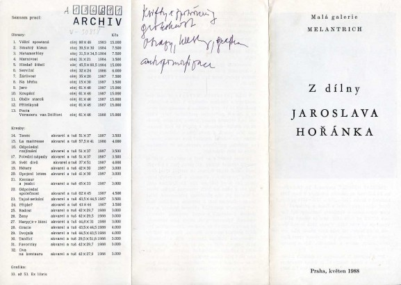 Z dílny Jaroslava Hořánka