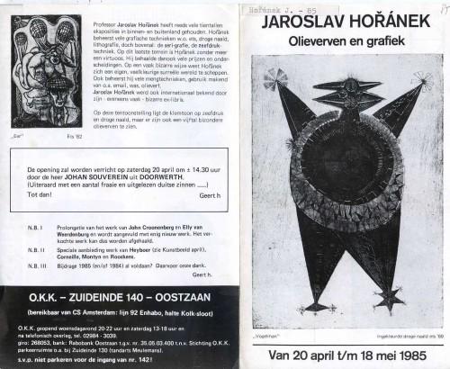 Jaroslav Hořánek: Olieverven en grafiek