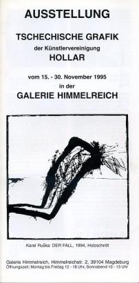Tschechische grafik der Künstlervereinigung Hollar