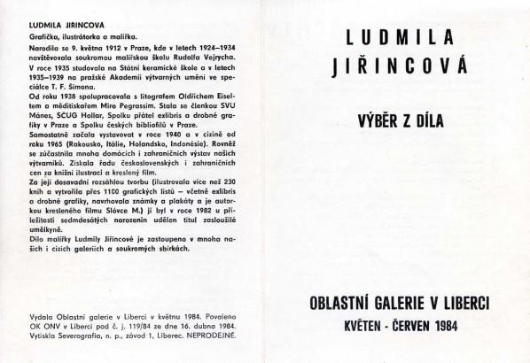 Ludmila Jiřincová: Výběr z díla