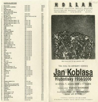 Jan Koblasa: Hlubotisky 1956/2006
