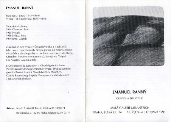 Emanuel Ranný: Grafika a bibliofilie