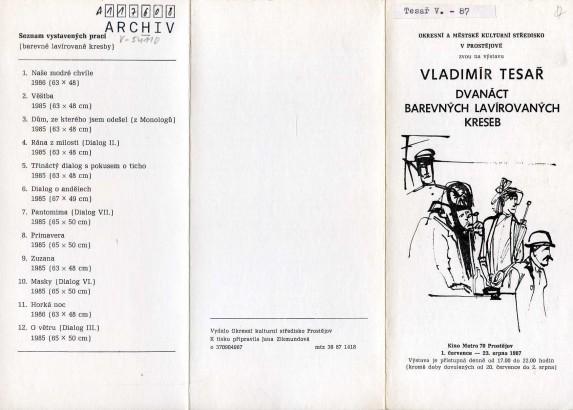 Vladimír Tesař: Dvanáct barevných lavírovaných kreseb