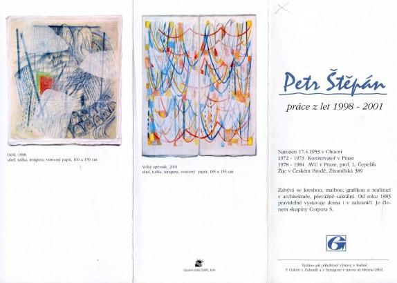 Petr Štěpán: Práce z let 1998 - 2001
