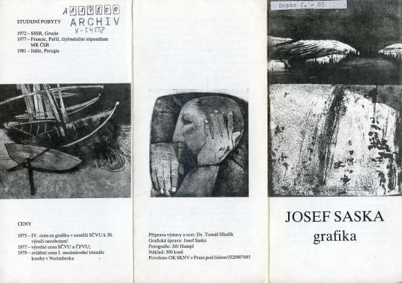 Josef Saska: Grafika