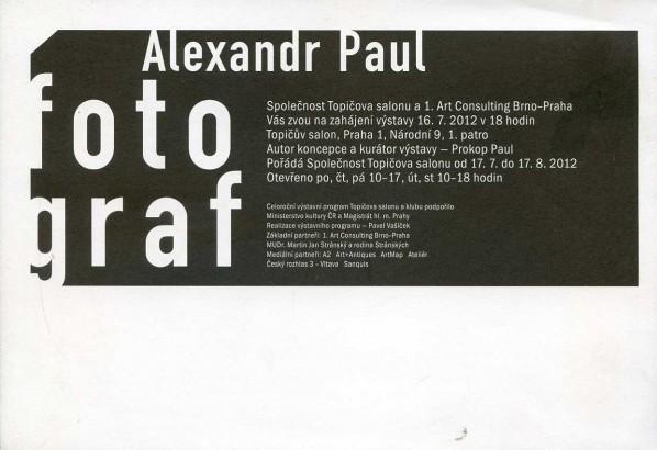 Alexandr Paul, fotograf
