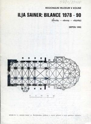 Ilja Sainer: Bilance 1978 - 90