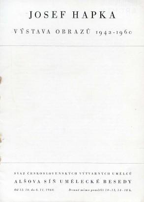 Josef Hapka: Výstava obrazů 1942-1960