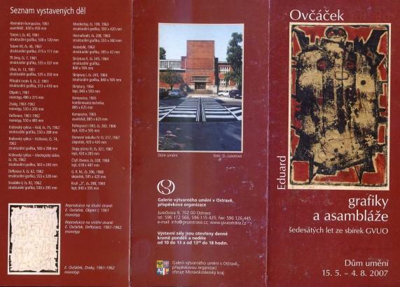 Eduard Ovčáček: Grafiky a asambláže šedesátých let ze sbírek GVUO