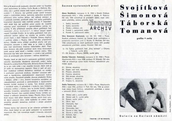 Svojítková, Šimonová, Táborská, Tomanová