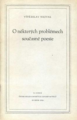 Nezval, Vítězslav - O některých problémech současné poesie