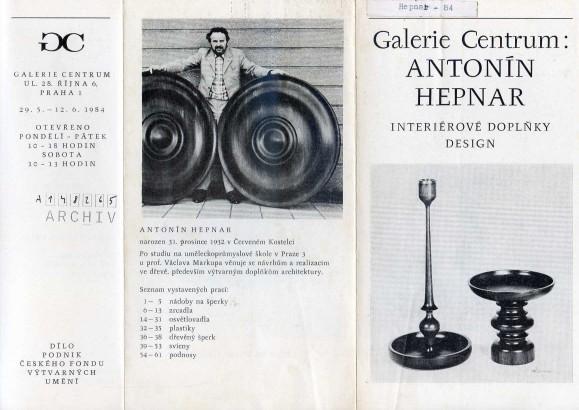Antonín Hepnar: Interiérové doplňky, design