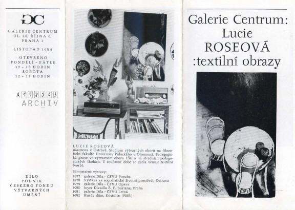 Lucie Roseová: Textilní obrazy