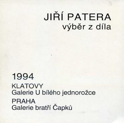 Jiří Patera: Výběr z díla
